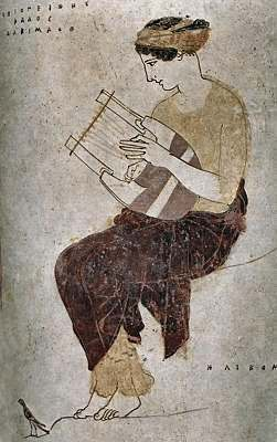 playing_a_lyre