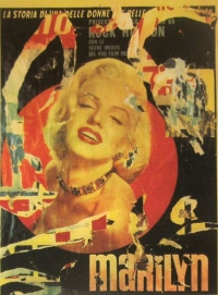 Mimmo Rotella, Marilyn, 1962