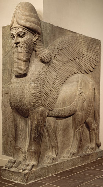 Λαμάσου, αλάβαστρο, ύψος 3,13 μ., 883-859 π.Χ., Μητροπολιτικό Μουσείο Τέχνης, Νέα Υόρκη.
