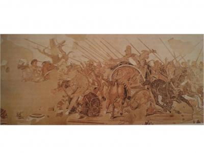 Μάχη της Ισσούς. 2ος - 1ος αιώνας π.Χ., ψηφιδωτό, 2,72 x 5,13 μ., Νάπολη,  Αρχαιολογικό Μουσείο.